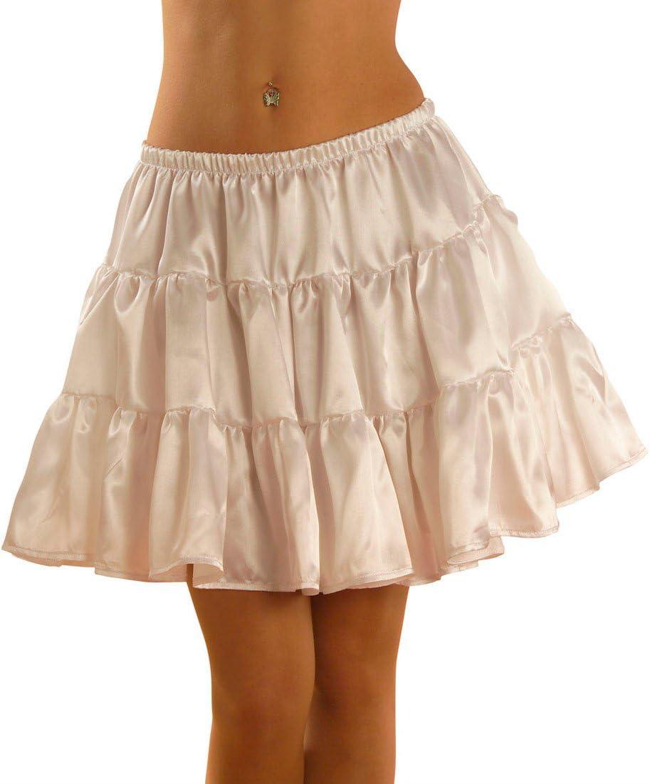 Enagua blanca falda de volantes de satén de colour blanco con ...