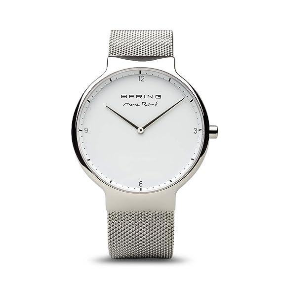 BERING Reloj Analógico para Unisex Adultos de Cuarzo con Correa en Acero Inoxidable 15540-004: Amazon.es: Relojes