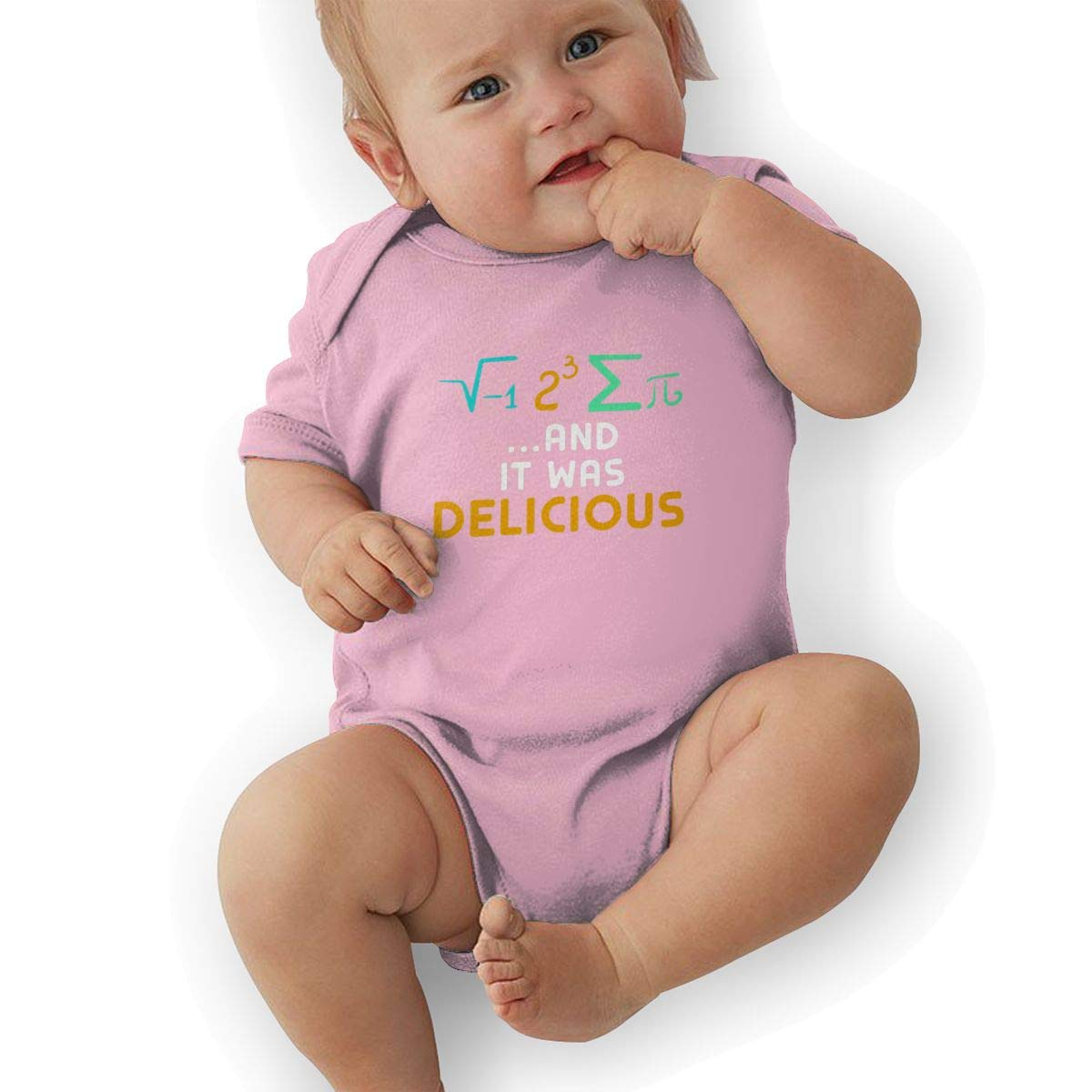 Infant Baby Girls Bodysuit Short-Sleeve Onesie I Ate Some Pie It was Delicious Print Jumpsuit Spring Pajamas