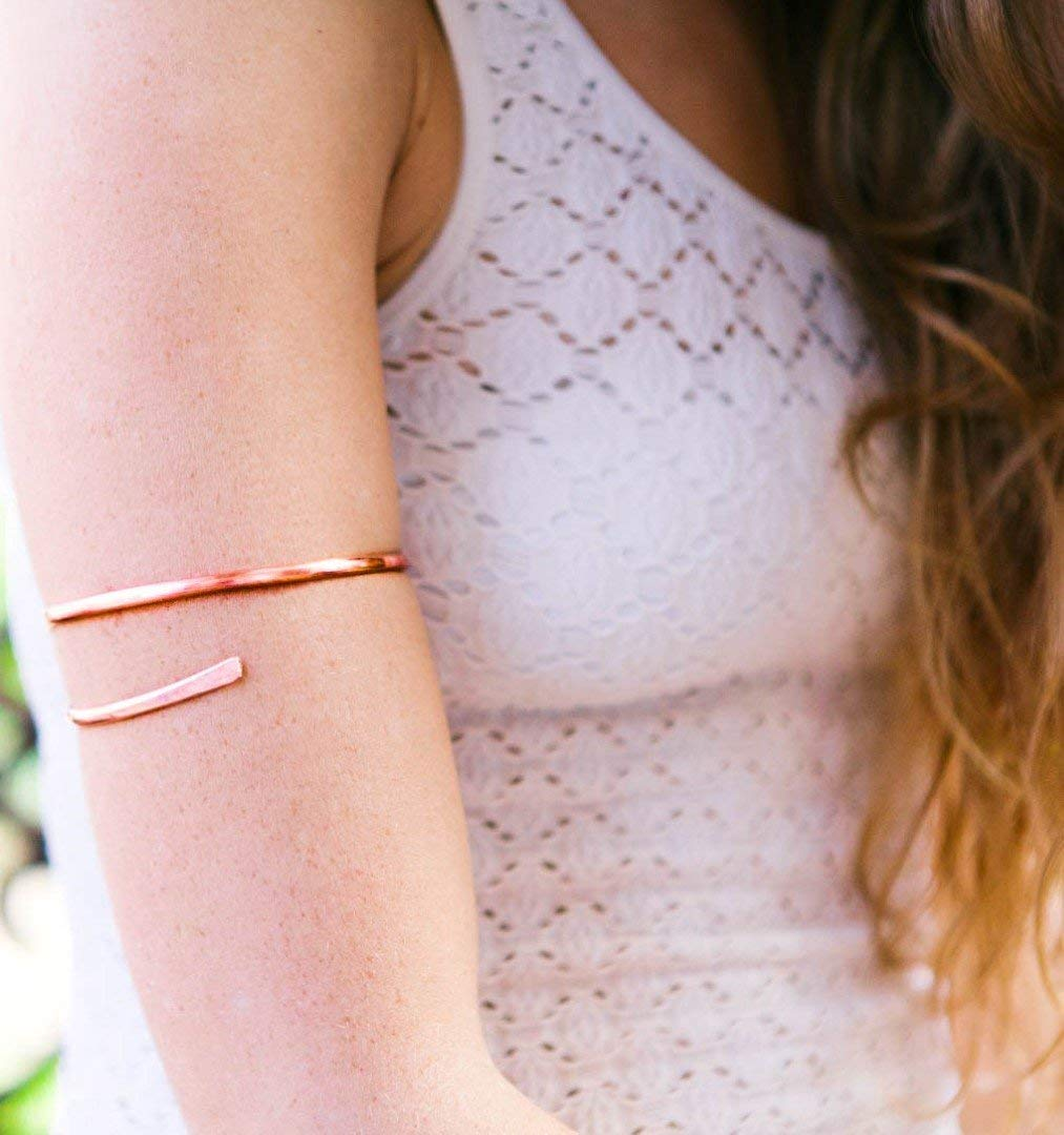 Amazon Com Copper Arm Cuff Handmade Copper Hammered Upper Arm Bracelet Handmade