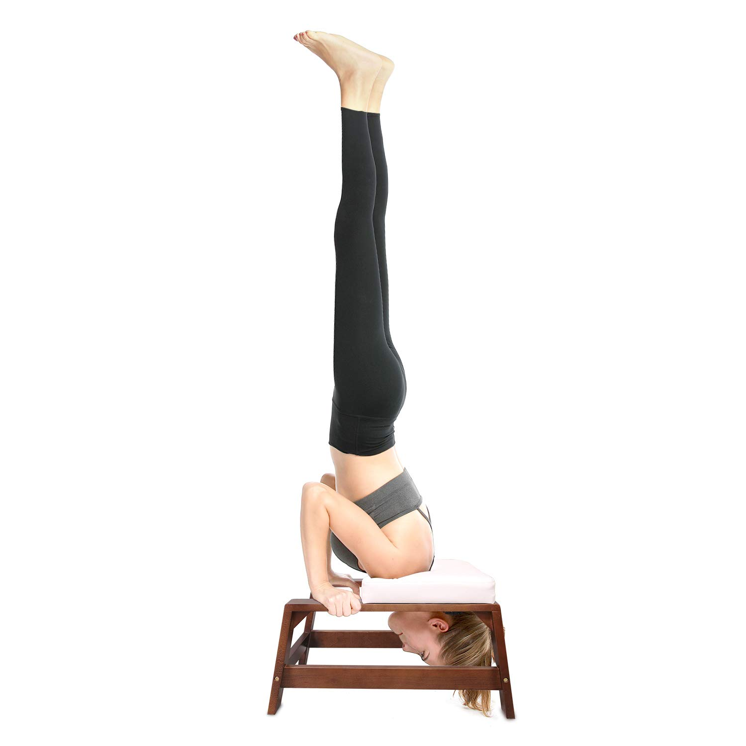 100/% Beech and PU Pads Restrial Life Yoga Headstand Bench Gym Relieve Fatigue and Build Up Body Yoga Inversion Trainer for Family