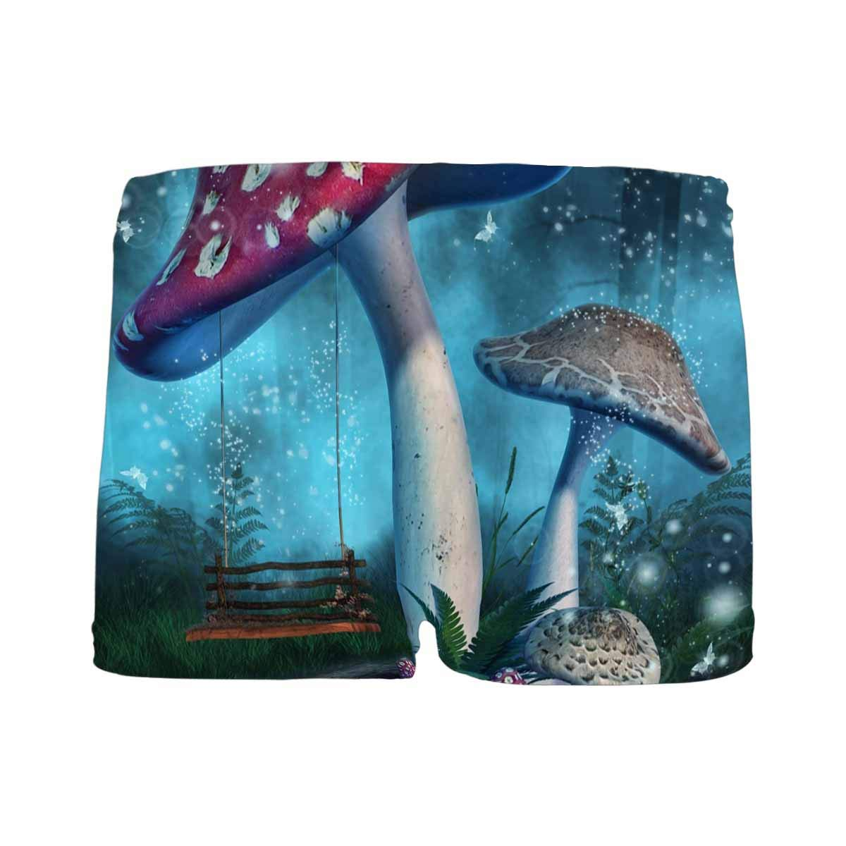 5T-2XL INTERESTPRINT Kids Fantasy Mushrooms with a Fairy Swing in Enchanted Forest ComfortSoft Printed Boxer Briefs