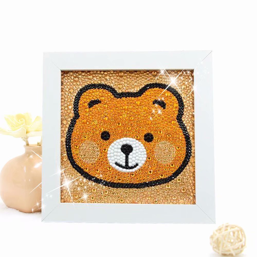 Include Wooden Frame-Bunny Diamond Painting for Kids Full Drill Painting by Number Kits Arts Crafts Supply Set Rhinestone Mosaic Making for Home Wall Decor Gifts for Christmas Birthday Mothers Day