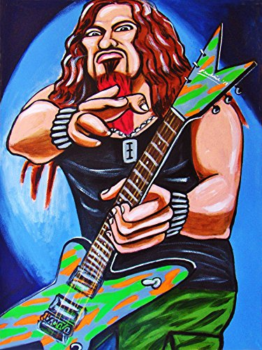 DIMEBAG DARRELL PRINT POSTER guitar cd lp record album vinyl pantera metal cowboys from hell dean ()