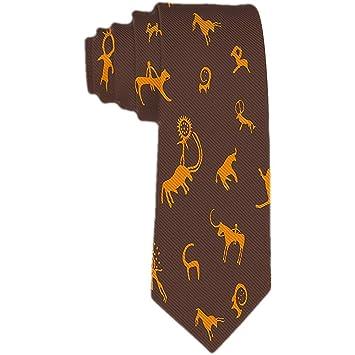 Corbata para hombre Pintura rupestre Corbatas naranjas para ...