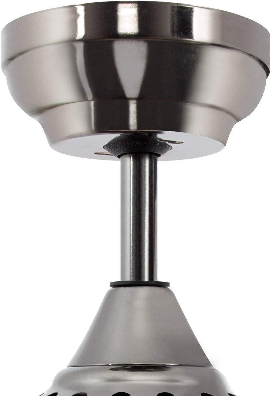 LEDKIA LIGHTING Ventilador de Techo LED Modern Negro 40W Blanco C/álido 3000K 3500K