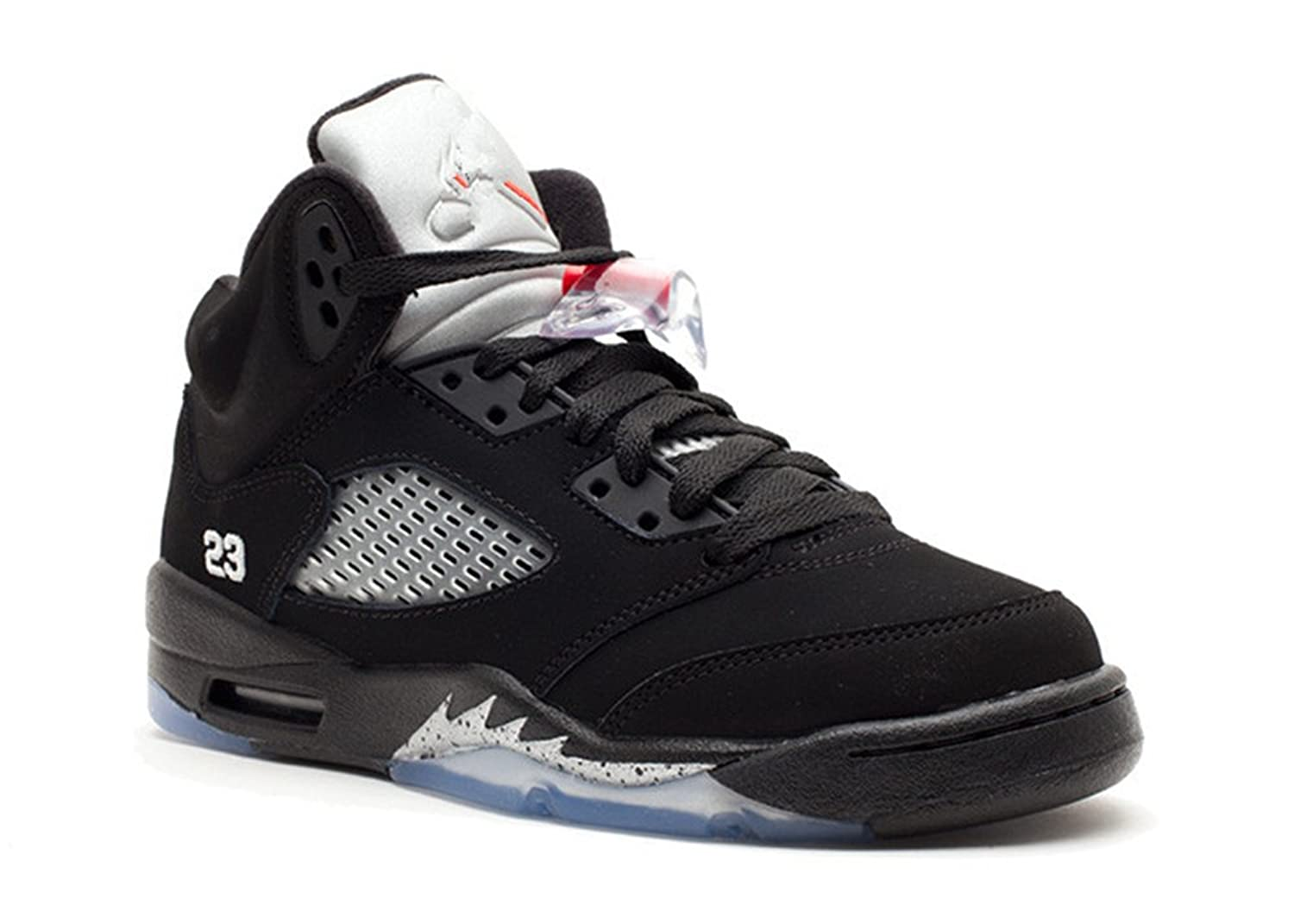 c4128ab92249 stevenok Leather Basketball Shoes Air Jordan 5 Retro gs 2011 release Black  metallic silver vrsty rd