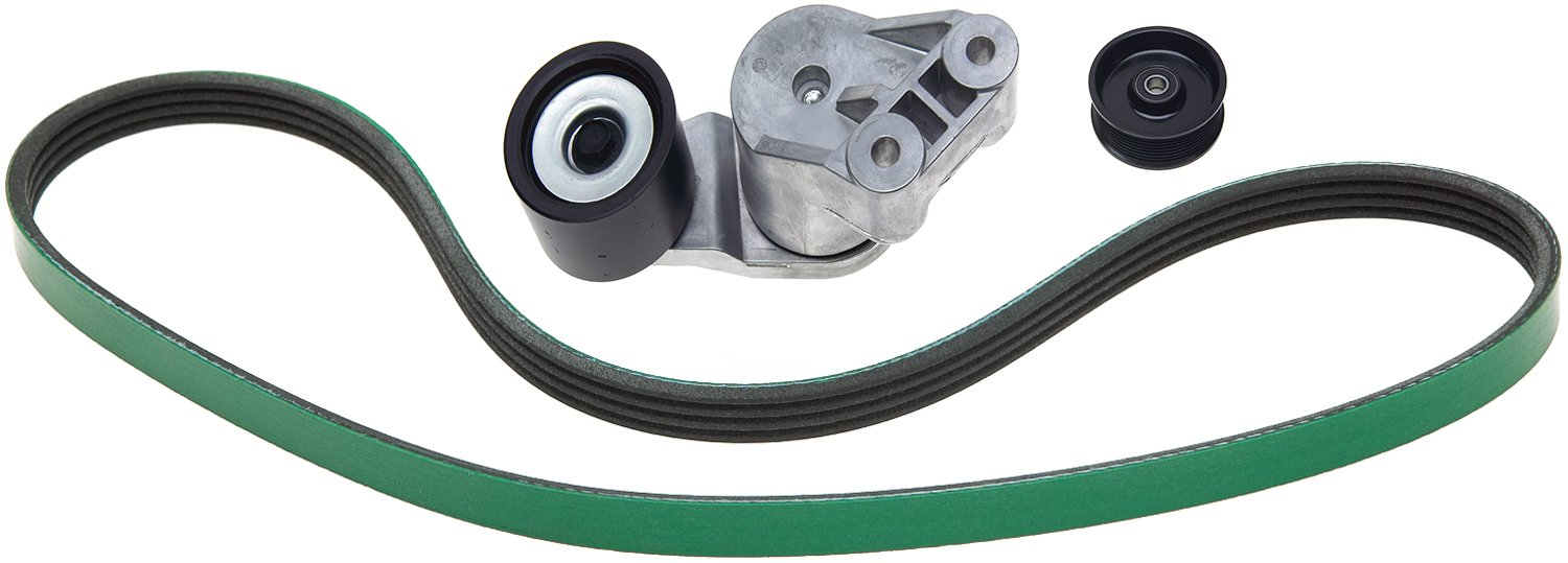 ACDelco ACK081264HD Professional Automatic Belt Tensioner and Pulley Kit with Tensioner Pulley and Belt