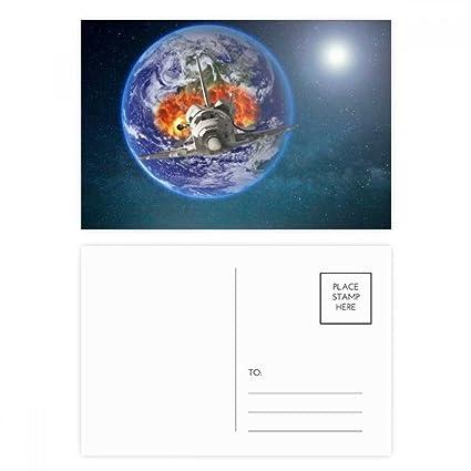 DIYthinker Nave espacial Tierra planetas coloridas Gracias ...