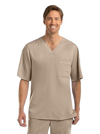 eeb53be78a3 Amazon.com: Grey's Anatomy 0103 Men's V-Neck Top New Khaki 3XL ...