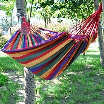 Amazonde Bunte Hängematte Gartencampen Zelten Terrasse