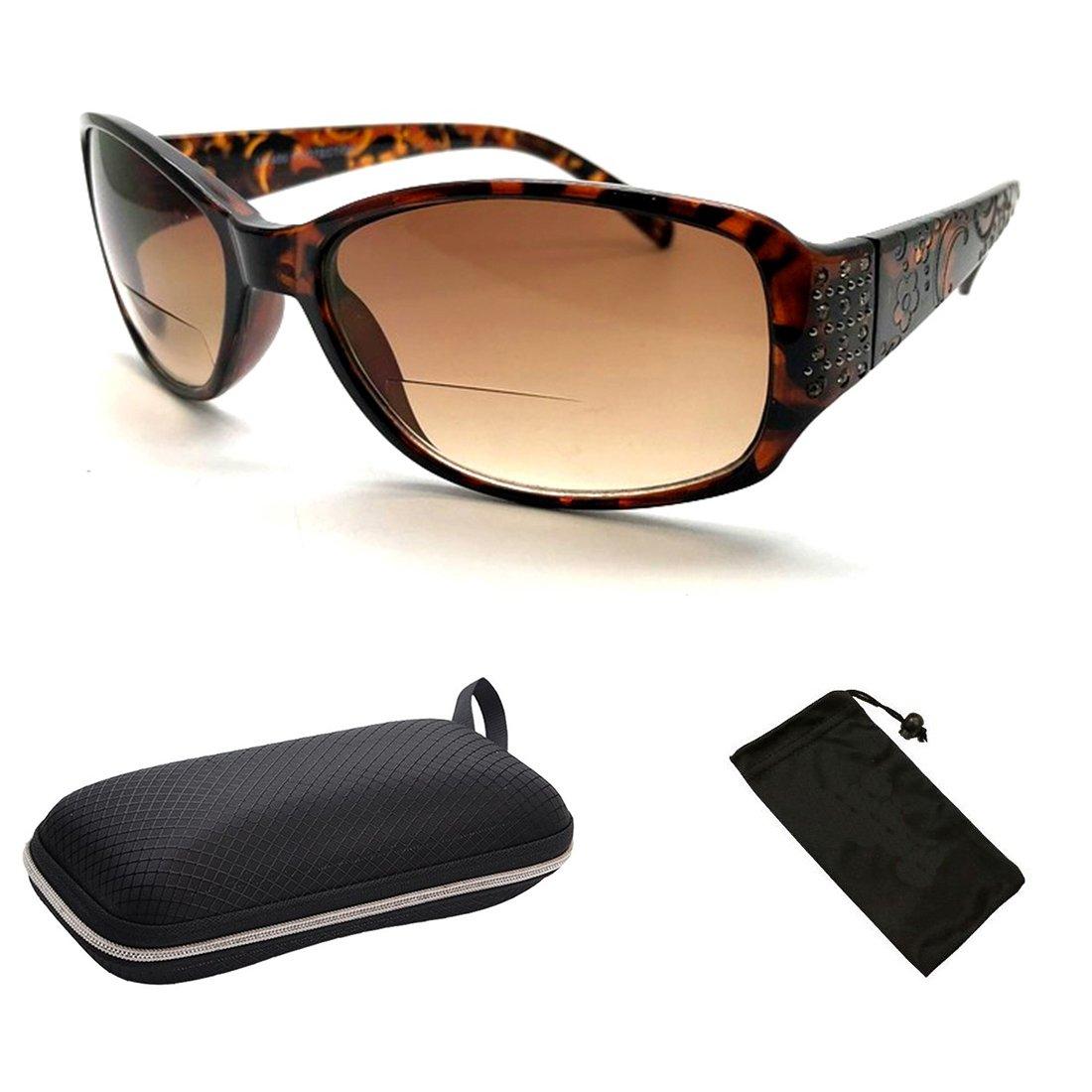 Women Bifocal Sun Readers Sunglasses Reading Glasses +1.50 +1.75 +2.00 +2.25 +2.50 +3.00 +3.50 (SR20058 Tortoise, 2.00)