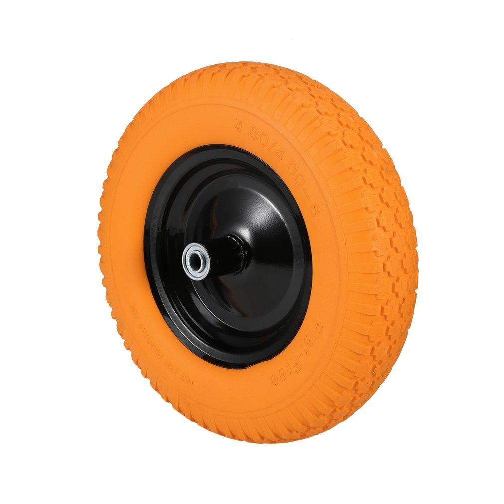 Graspwind Wheelbarrow Wheels 16'' Flat-Free Wheel Barrow Flat Free Tire Foamed Polyurethane Wheelbarrow Tire 4.80/4.00-8''