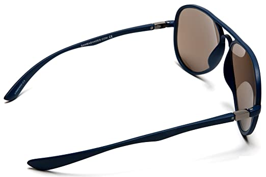 ccf8e6f514b1 Amazon.com  Smaba Shades Classic French Riviera Sport Military Pilot Carrera  Sunglasses with Unbreakable Rubber Blue Frame