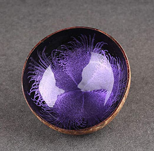 Natural Coconut Shells Bowl Key Candy Dishes Art Crafts Colour Home Decoration