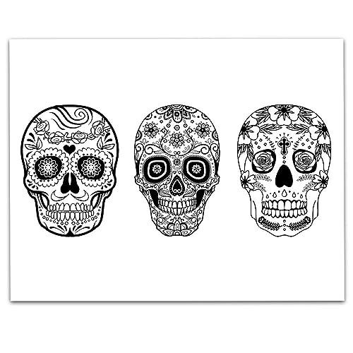 Amazon.com: Sugar Skull Art - 11 X 14 Unframed Print - Sugar Skull Wall  Decor - Great Gift For Anyone Who Loves Sugar Skull Decor: Handmade