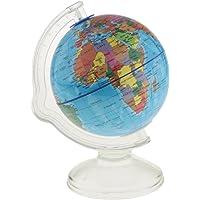 HOMYL Creative World Globe Coin Bank Money Box - Teach Kids to Save Money & Learn The World Map - Blue