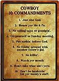 Rivers Edge Products Warning Cowboy 10 Commandment Sign