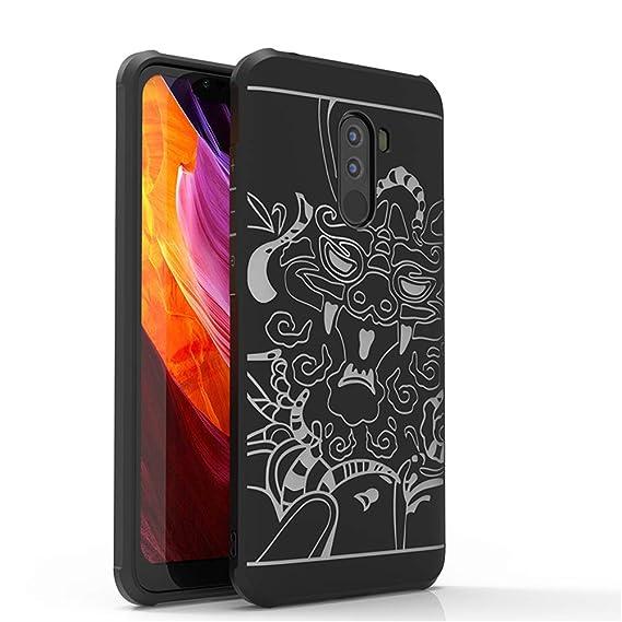 buy popular 18fbf a52f6 Amazon.com: Xiaomi POCOPHONE F1 Case,DAYJOY Blade Design Dragon ...