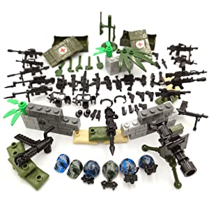 SPRITE WORLD Military Army Weapons Accessories with Man Soldier Building Block Toy Wilderness Special Training Camouflage Army Compatible Major Brand Kids Gift