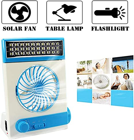 Multifuncional Solar Ventilador de Refrigeración 3 en 1 Linterna ...