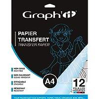 Graph'it transferpapier, A4, verschillende kleuren, 12 stuks