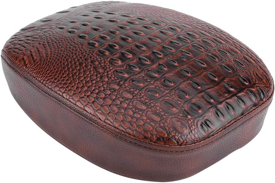 Akozon Seat Motorcycle Front Seat Rear Passenger Pillion Pad Cushion for Sportster XL1200 883 72 48 Front Seat