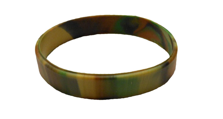 AccessCube Militär tarnt Multi Farbstrudel Blank Silikon Gummi Armband Mode Unisex Sport Segment Stulpe Armband