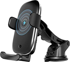 ATOTO Freeholder 01 Car Wireless Phone Charger & Holder - Dashboard/Air Vent/Windshield Mount-Suitable for Qi-Enabled Phones (for iPhone 12/12 Pro/12 Pro Max/Samsung Galaxy S20/S10/Note20 and More)…