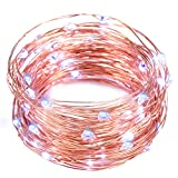 String Lights, Oak Leaf 2 Set of Micro 30 Leds Decorative Lights Copper Wire Fairy Starry String Lights for Home Bedroom Party Decoration Trees - Blue