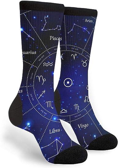 Constellation Poster Virgo Star Sky Socks Mens Womens Casual Socks Custom Creative Crew Socks