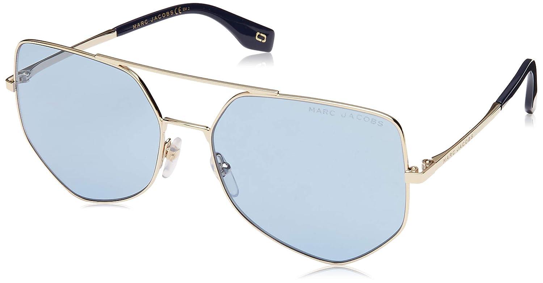 gold bluee Marc Jacobs Women's Geometric Aviator Sunglasses