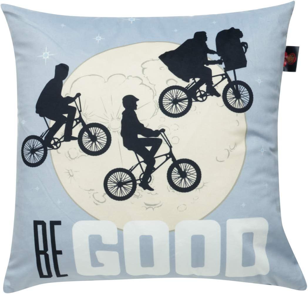 Capa de Almofada E.T; bike & Moon Urban Cinza Poliéster