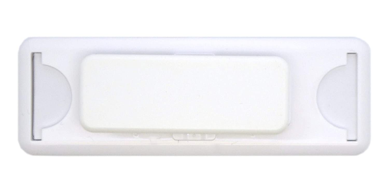 Edles Namensschild aus Kunststoff mit Magnet Name Badge f/ür die Kleidung selbstbeschriftbar transluzent klar, 75 x 30 mm