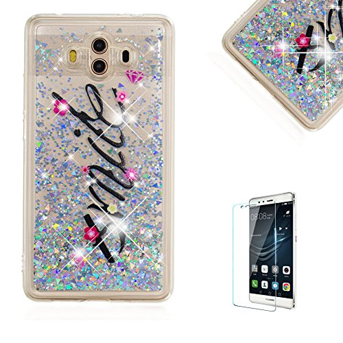 Cheap  Funyye Glitter Liquid Case for Huawei Mate 10,Stylish Multi-Coloured Sparkle Quicksand Silver..