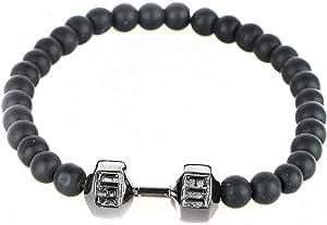 Dumbbell Bracelet, Unisex, Black