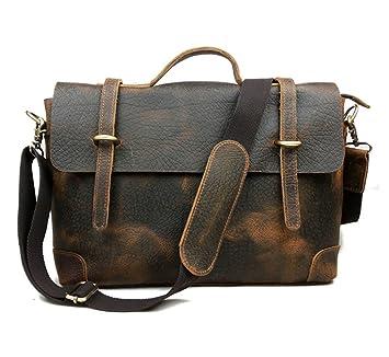 E-Bestar sac à mian en cuir vintage sac homme sac bandoulière sac épaule sac PC portable 7tAmm8p