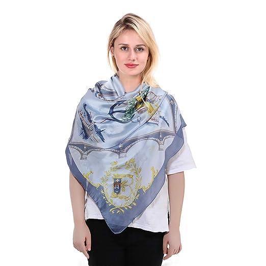 57d6fdbd769 100% Silk Scarfs for Women Long - Lightweight Satin Shawl Fashion Printed  Scarves for Ladies