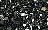 Fire Glass for Fire Pits Black 1/4″ for Reflective Glass Pellets (10Lbs)