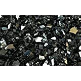 """Fire Glass for Fire Pits Reflective Black 1/4"""" Glass Pellets (10Lbs)"""