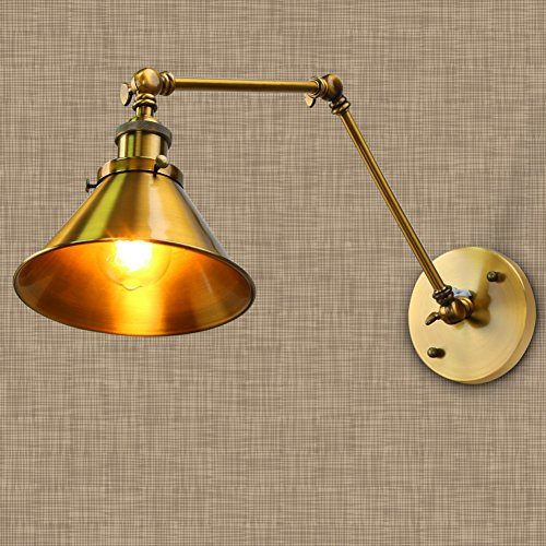 Golden Wall Lamps : Fuloon Vintage Retro Countryside Golden Wall Lamp Long Arm Pole Swing Arm Wall eBay
