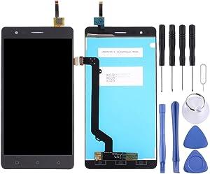 Wangl Lenovo Spare LCD Screen and Digitizer Full Assembly for Lenovo K5 Note (Black) Lenovo Spare (Color : Black)