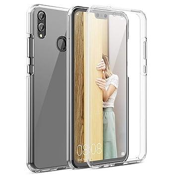 Winhoo Funda para Huawei Honor 8X 360 Grados Full Body de Protección Silicona TPU Carcasa con Protector de Pantalla Compatible con Carga Inalámbrica ...