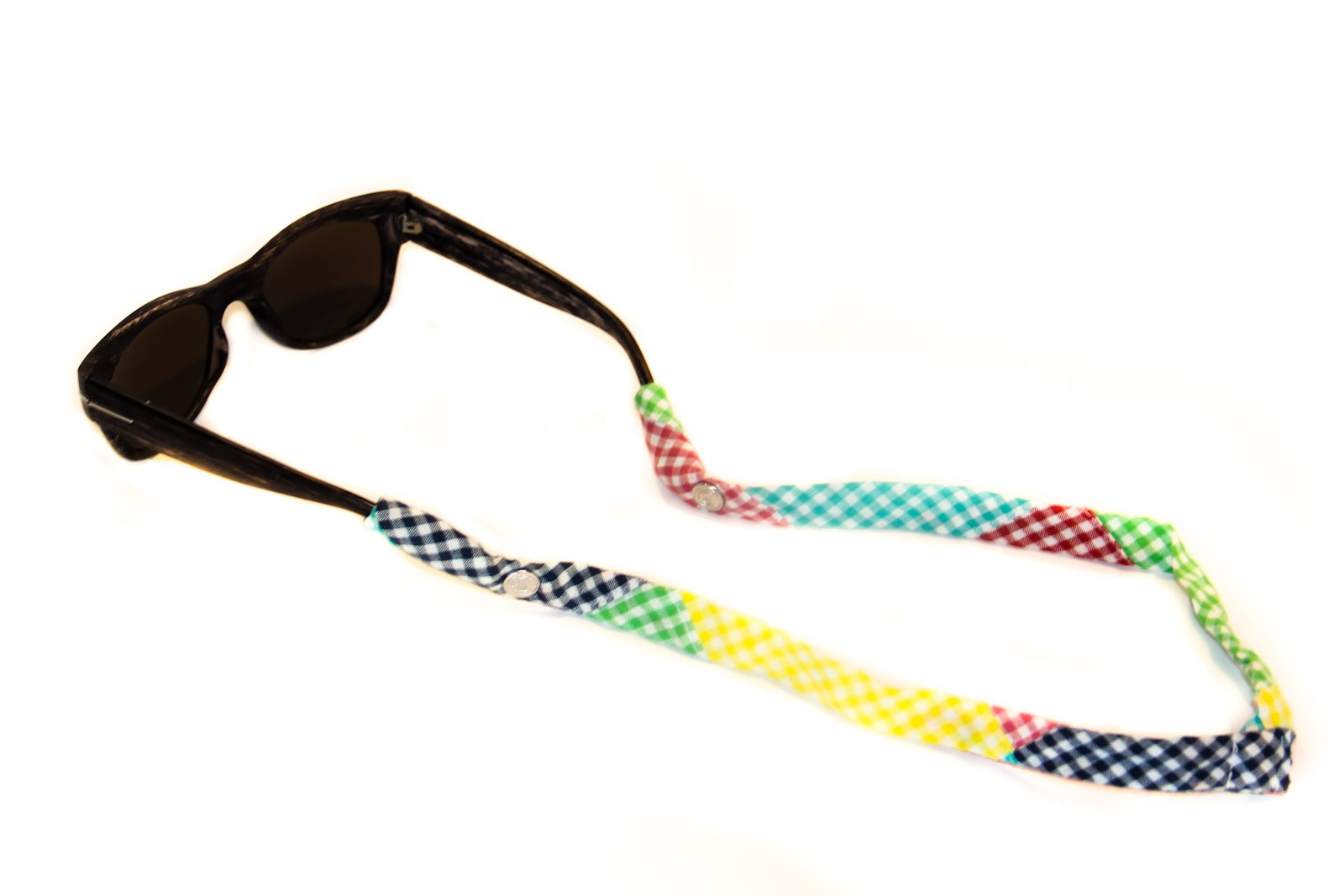 CottonSnaps Sunglasses Straps Patchwork Gingham Limited Edition