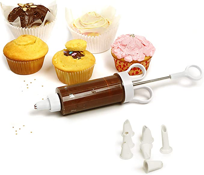 TOP RATED NOPRO CUPCAKE INJECTOR & DECORATING 9 PIECE ICING SET!