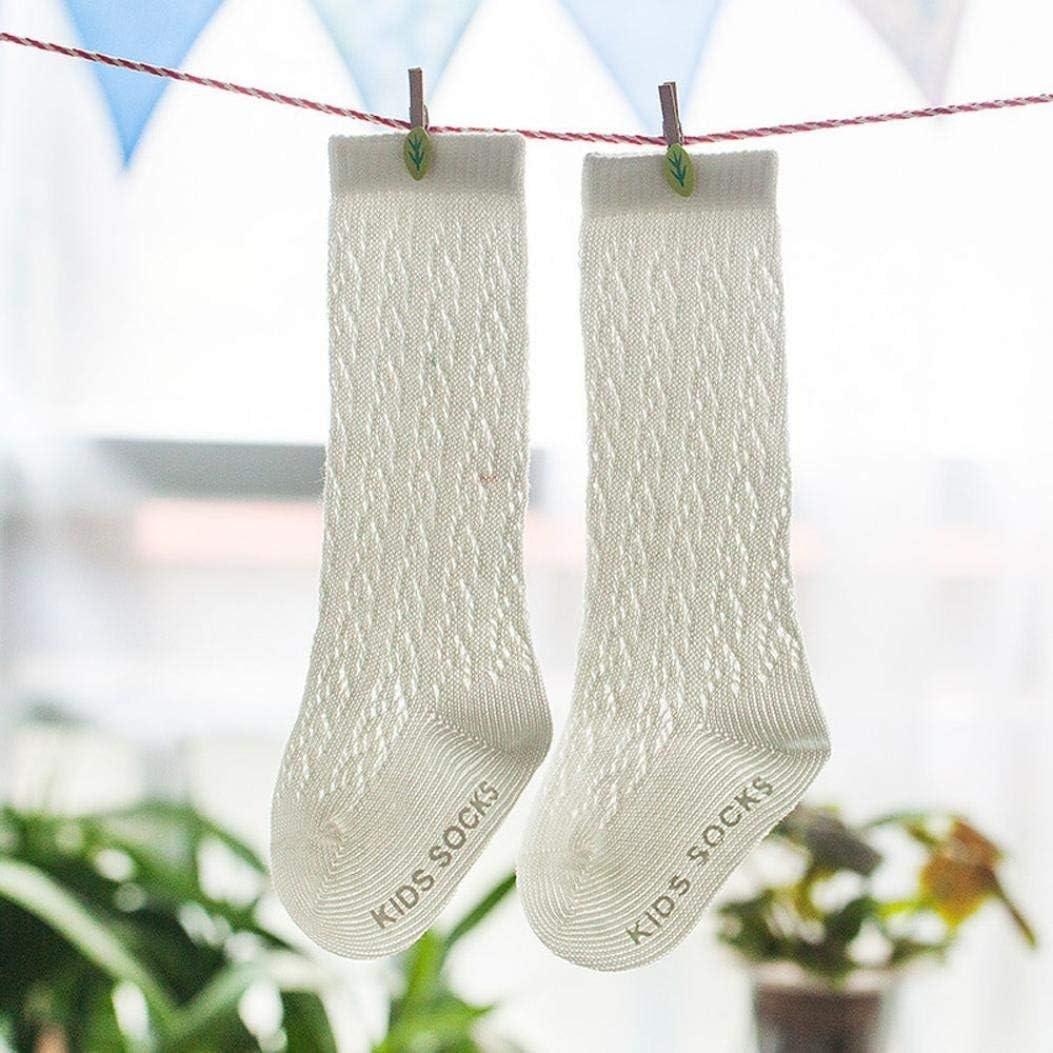 Voberry 1Pair Baby Kids Pile Heap Bootie Socks Knee High Cotton Socks Warm Stockings