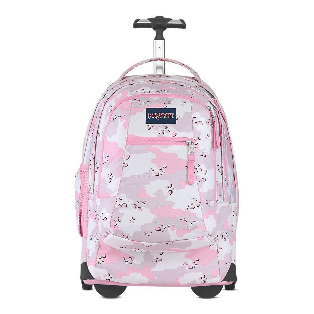 JanSport Driver Rolling 15'' Laptop Backpack - Wheeled Book Bag | Camo Crush