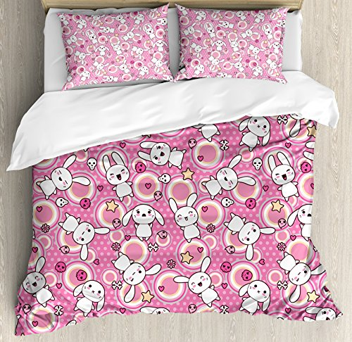 Ambesonne Anime Duvet Cover Set King Size, Funny Kawaii for sale  Delivered anywhere in USA