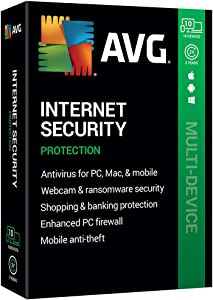 AVG Technologies AVG Internet Security 2020, 10 Devices 2 Year 2020