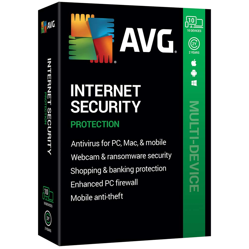 AVG Technologies AVG Internet Security 2020, 10 Devices 2 Year 2020 by AVG Technologies